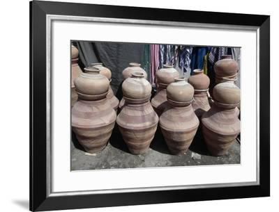 Handcrafted Terracotta Pots and Containers, Hyderabad, Pakistan--Framed Giclee Print