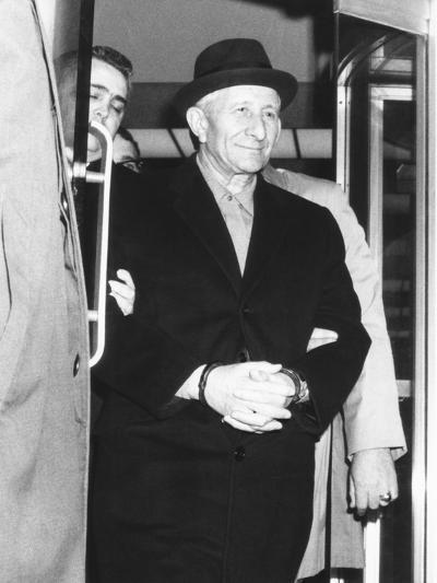 Handcuffed Carlo Gambino Is Led from Fbi Headquarters on March 23, 1970--Photo