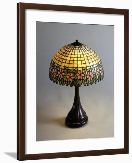Handel Lamp in Glass Paste and Bronze, 1900--Framed Giclee Print