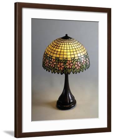 Handel Lamp in Glass Paste and Bronze, 1900--Framed Giclee Print