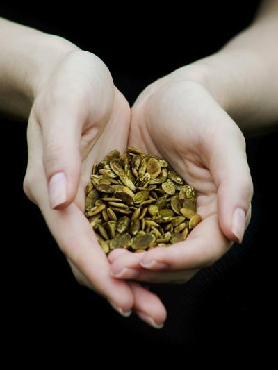 Handful of Pumpkin Seeds-Elisa Lazo De Valdez-Photographic Print