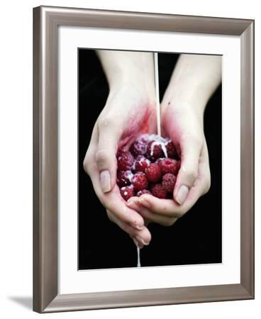 Handful of Raspberries-Elisa Lazo De Valdez-Framed Photographic Print