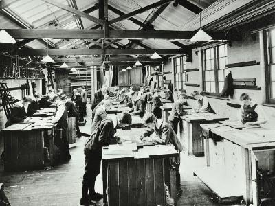 Handicraft Lesson, Hackney Downs School, London, 1911--Photographic Print