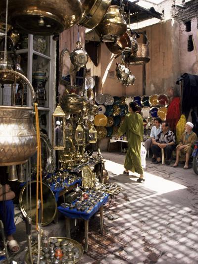 Handicraft Souk, Marrakech, Morocco, North Africa, Africa-Michael Jenner-Photographic Print