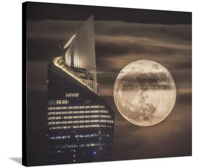 Handling The Supermoon-Faisal Alnomas-Stretched Canvas Print