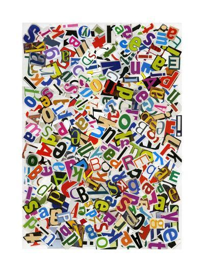 Handmade Alphabet Collage Of Magazine Letters-donatas1205-Art Print