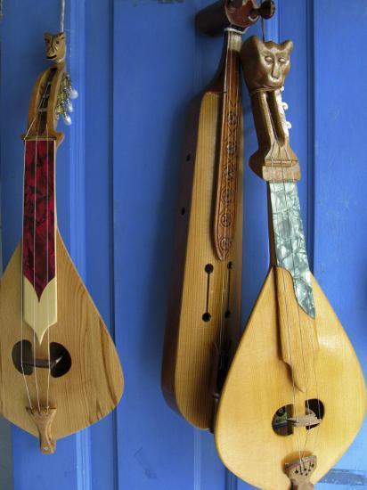 Handmade Musical Instruments, Chania, Crete, Greece-Steve Outram-Photographic Print