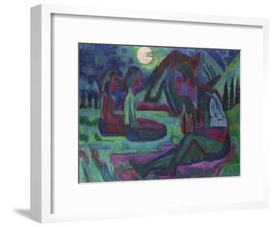 Handorgler in Mondnacht. 1924--Framed Giclee Print