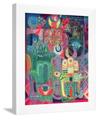 Hands as Amulets II, 1992-Laila Shawa-Framed Giclee Print