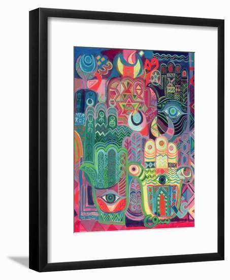 Hands as Amulets II, 1992-Laila Shawa-Framed Premium Giclee Print