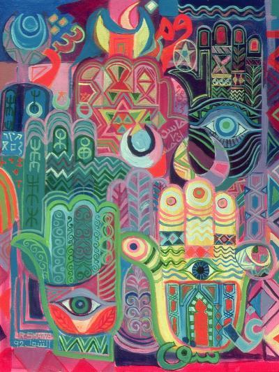 Hands as Amulets II, 1992-Laila Shawa-Giclee Print