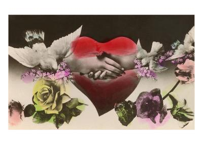 Hands Clasped over Heart--Art Print