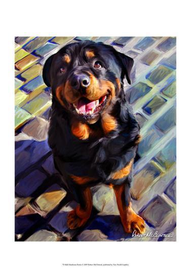 Handsome Rottie-Robert Mcclintock-Art Print