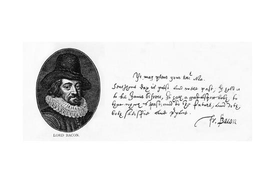 Handwriting and Signature of Sir Francis Bacon from a