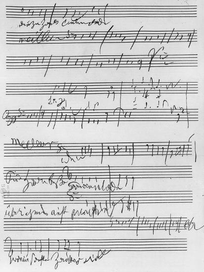 Handwritten Musical Score (Ink on Paper)-Ludwig Van Beethoven-Giclee Print