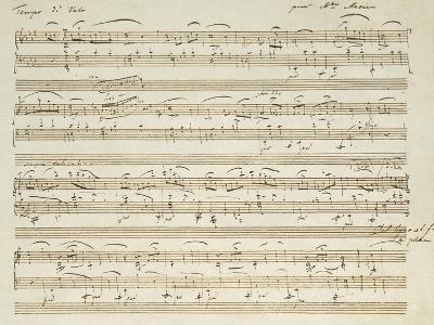 Handwritten Score for Waltz in Flat Major--Giclee Print