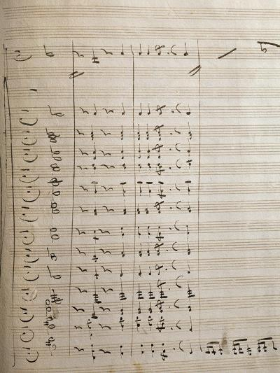Handwritten Sheet Music for the First Act of Oberto Conte Di San Bonifacio--Giclee Print