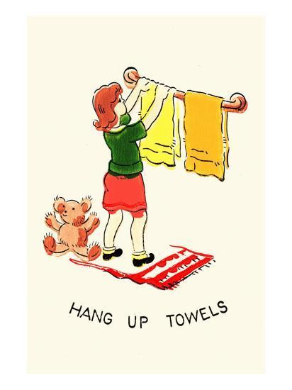 Hang Up Towels--Art Print