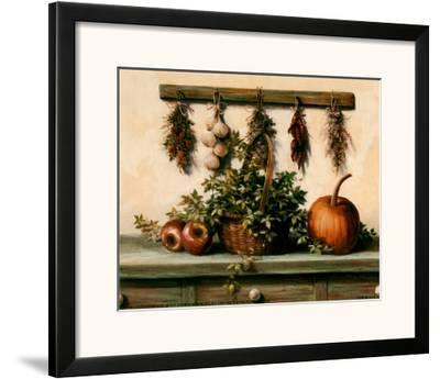 Hanging Dried Herbs-T^ C^ Chiu-Framed Art Print