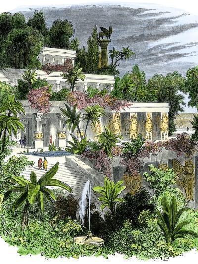 Hanging Gardens of Ancient Babylon--Giclee Print
