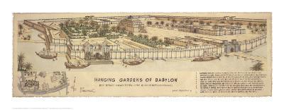 Hanging Gardens of Babylon-Roger Vilar-Art Print