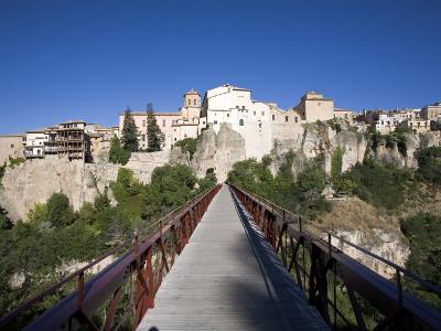 Hanging Houses and Pedestrian Bridge San Pablo, Cuenca, Castilla-La Mancha, Spain, Europe-Marco Cristofori-Photographic Print