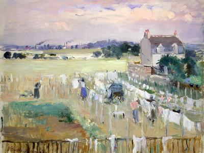 Hanging the Laundry Out to Dry-Berthe Morisot-Giclee Print