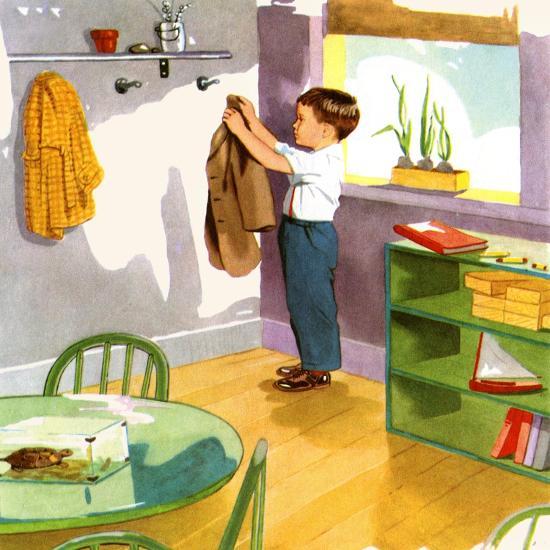 Hanging Up The Coat-Imogene M. McPherson?-Art Print