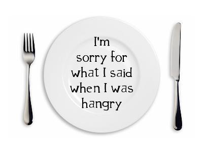 Hangry Sorry Plate-Indigo Sage Design-Art Print