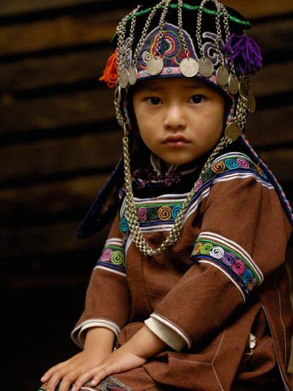 Hani People, Yuanyang, Honghe Prefecture, Yunnan Province, China-Pete Oxford-Photographic Print