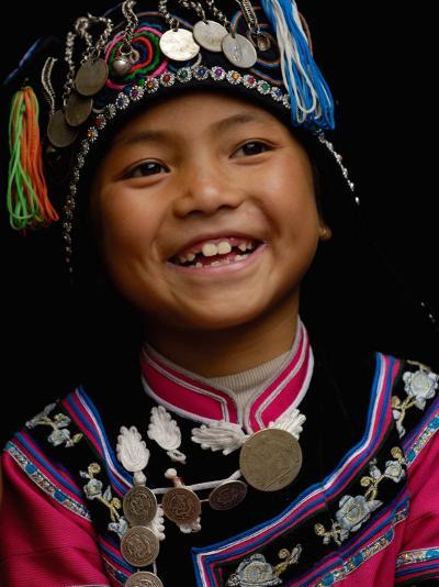 Hani People, Yuanyang, Honghe Prefecture, Yunnan Province, China-Pete Oxford-Photographic Print