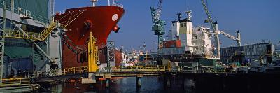 Hanjin Heavy Industries and Construction Shipyard, Busan, South Korea--Photographic Print