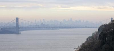 George Washington Bridge at Dawn by Hank Gans