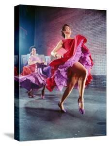 Chita Rivera and Liane Plane Dancing in a Scene from the Broadway Production of West Side Story by Hank Walker