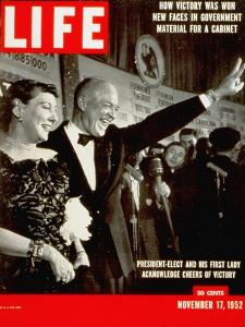 Dwight D. Eisenhower and Mamie, November 17, 1952 by Hank Walker