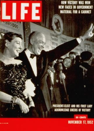 Dwight D. Eisenhower and Mamie, November 17, 1952