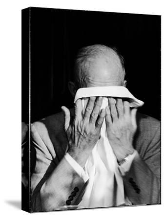 Dwight D. Eisenhower Emotionally Crying After His Speech at the 82nd Airborne Luncheon
