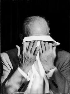Dwight D. Eisenhower Emotionally Crying After His Speech at the 82nd Airborne Luncheon by Hank Walker