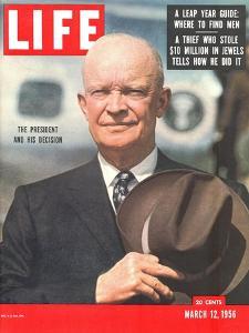 Dwight D. Eisenhower, March 12, 1956 by Hank Walker