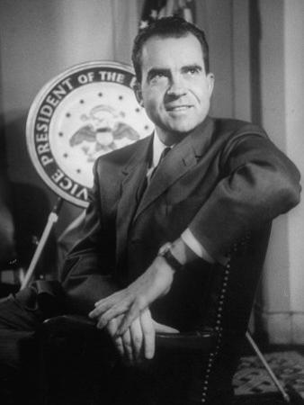 Richard M. Nixon at the White House by Hank Walker