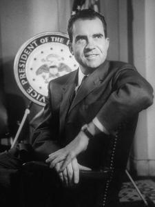 Richard M. Nixon at the White House by Hank Walker