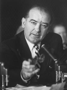 Sen. Joe McCarthy During Army-McCarthy Hearings by Hank Walker