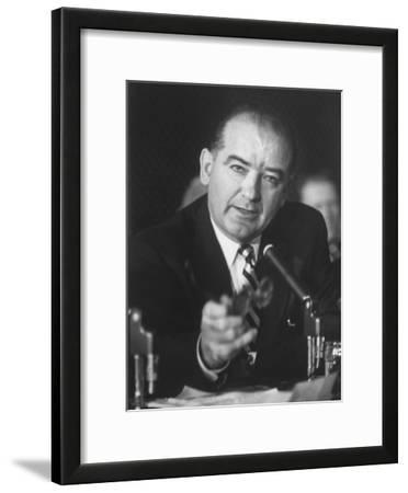 Sen. Joe McCarthy During Army-McCarthy Hearings