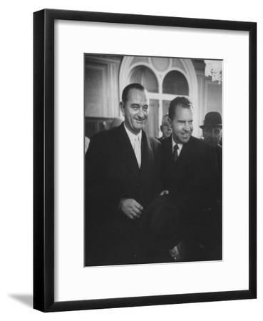 Sen. Lyndon B. Johnson Posing with Vice-President Richard M. Nixon