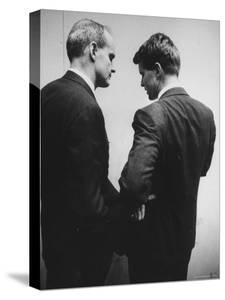 Sen. William Proxmire Talking with Robert F. Kennedy by Hank Walker