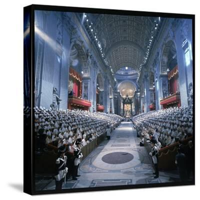 St. Peter's Basilica During the 2nd Vatican Ecumenical Council of the Roman Catholic Church