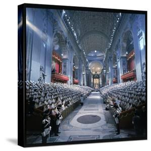 St. Peter's Basilica During the 2nd Vatican Ecumenical Council of the Roman Catholic Church by Hank Walker