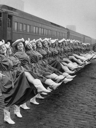 Texas Rangerettes Performing During Inauguration Festivities for Dwight D. Eisenhower by Hank Walker