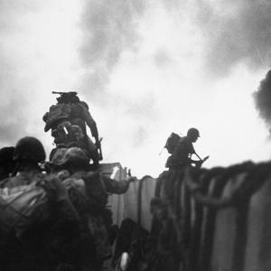US Marines Making a Landing at Inchon by Hank Walker