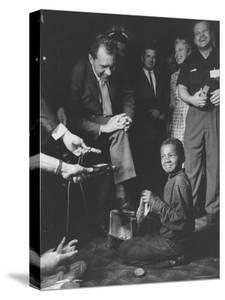 Vice President Richard M. Nixon Getting His Shoes Shined at the GOP Convention by Hank Walker